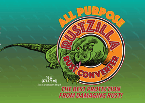 Rustzilla all-purpose rust remover 16oz label - buy now!