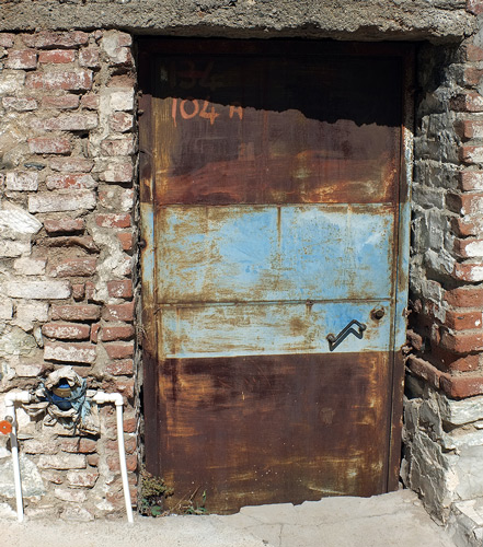 Use Rustzilla rust converter to save rusty Metal Doors, Basement Hatch Doors.