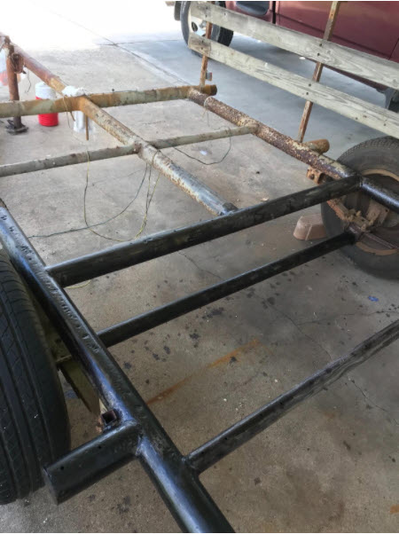 Rustzilla saved this rusty trailer frame.